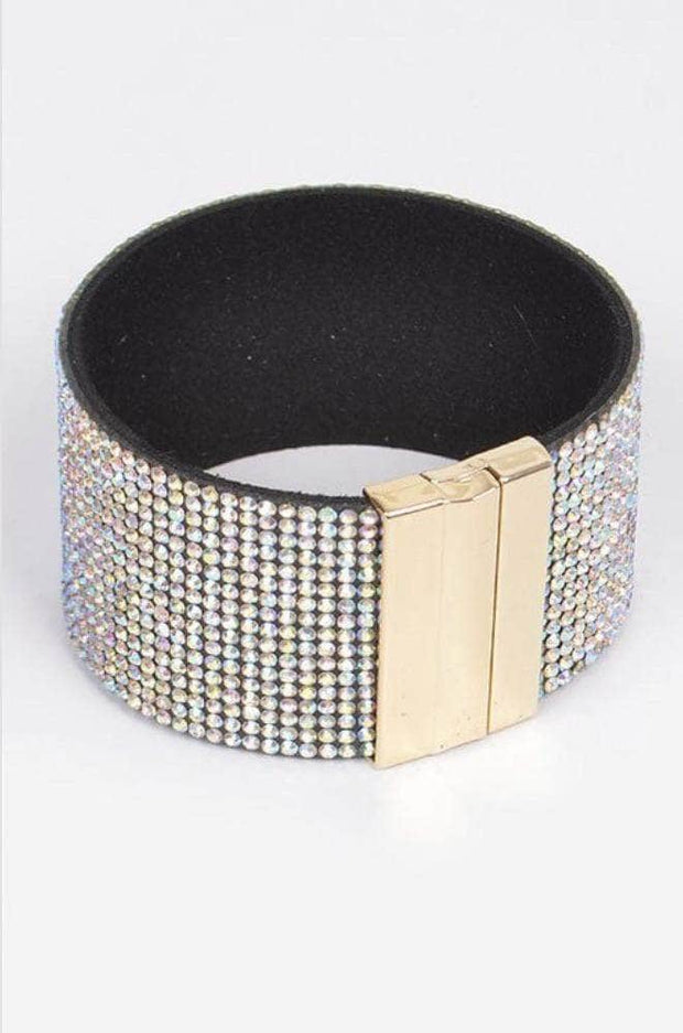 lee monet Gold Rhinestone Cuff Bracelet