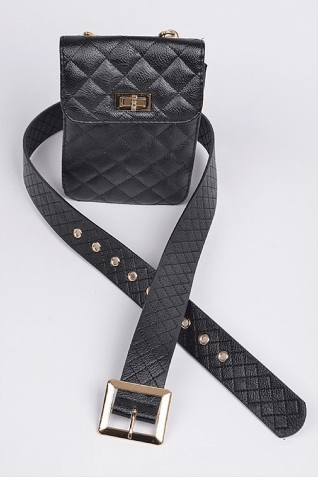 lee monet Quilted Belt With Pouch