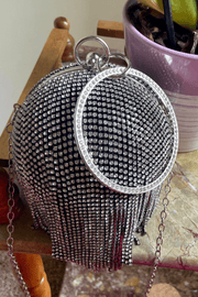 lee monet Rhinestone Ball Clutch