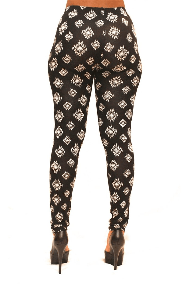 lee monet Sale Black Tribal Ankle Leggings