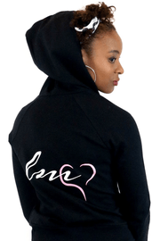 lee monet Sale Logo Black Zip Hoodie