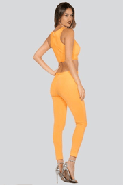 lee monet Sets Show Stopper Bandage Pants Set (Acid Orange)