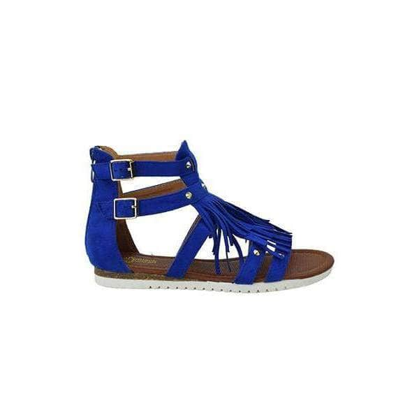 lee monet Shoes Amiya Blue Gladiator Sandal