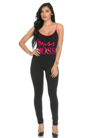 vendor-unknown Jumpsuit Miss Boss -Final Sale