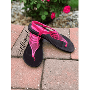 vendor-unknown Shoes Amanda Fuchsia Thong Sandal