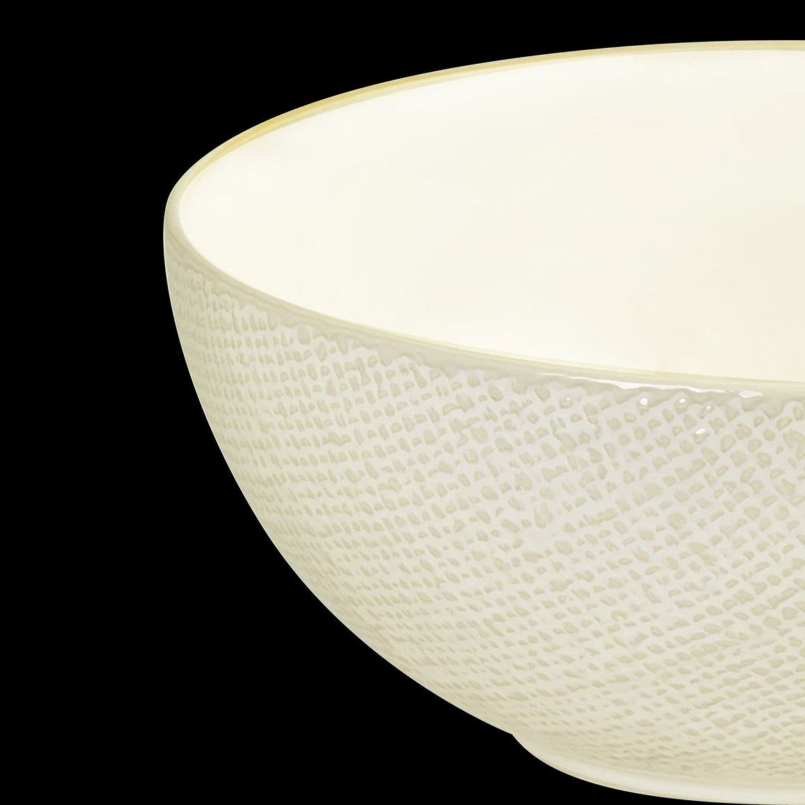 Dante Reactive White Round Bowl