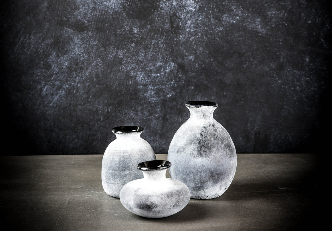 Black Bubble Vase - Set of 3