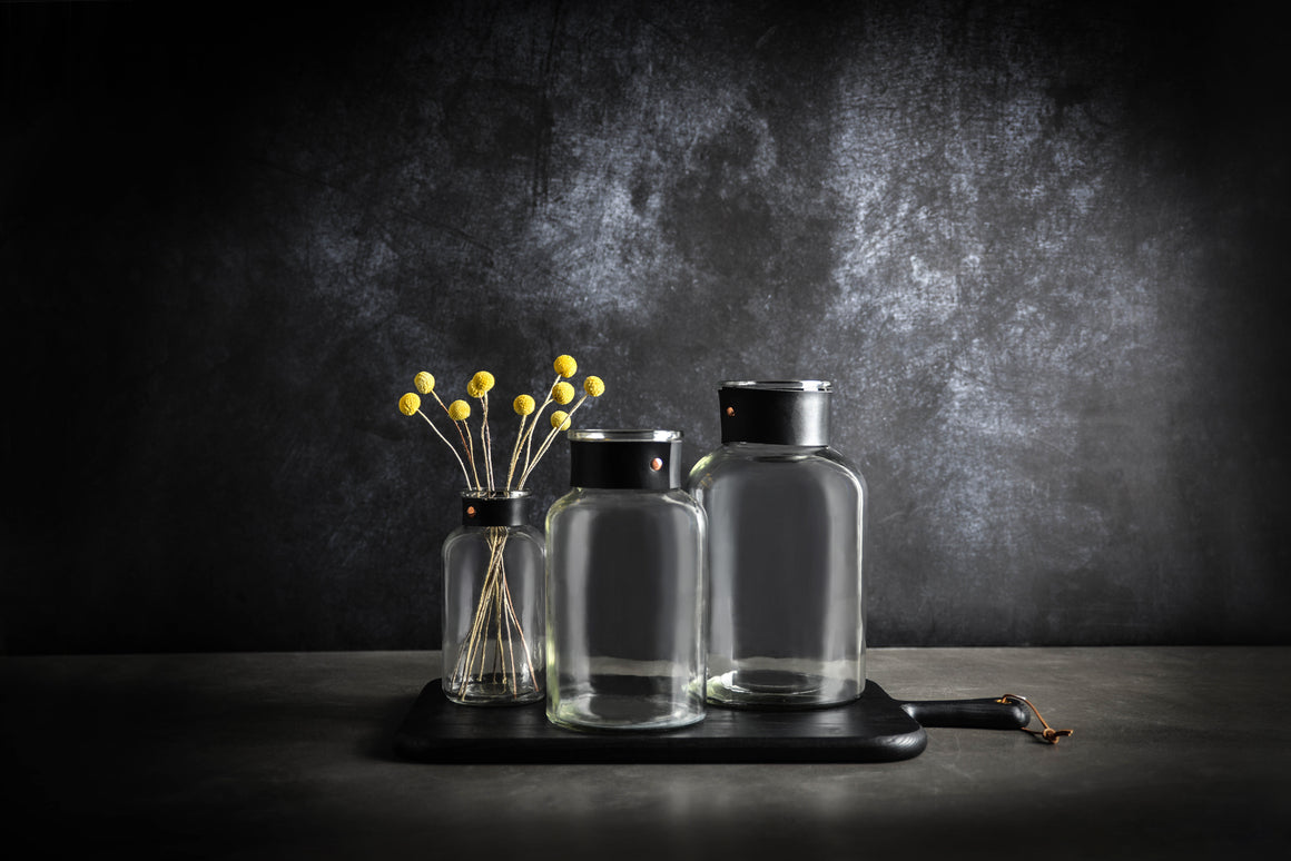 Nico Glass Bottle Vase - Small