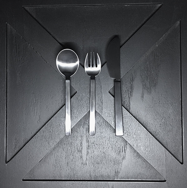 ICHI Child Cutlery Set in Matte Silver by Ole Palsby Denmark - (3 Piece)