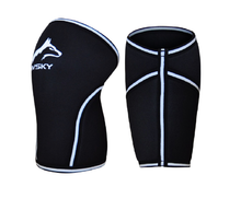 The Siberian, 7mm Knee Sleeve - Pair of 2 (Jet Black)