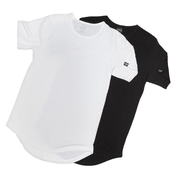 SCOOP TEE COMBO PACK    BLACK - WHITE