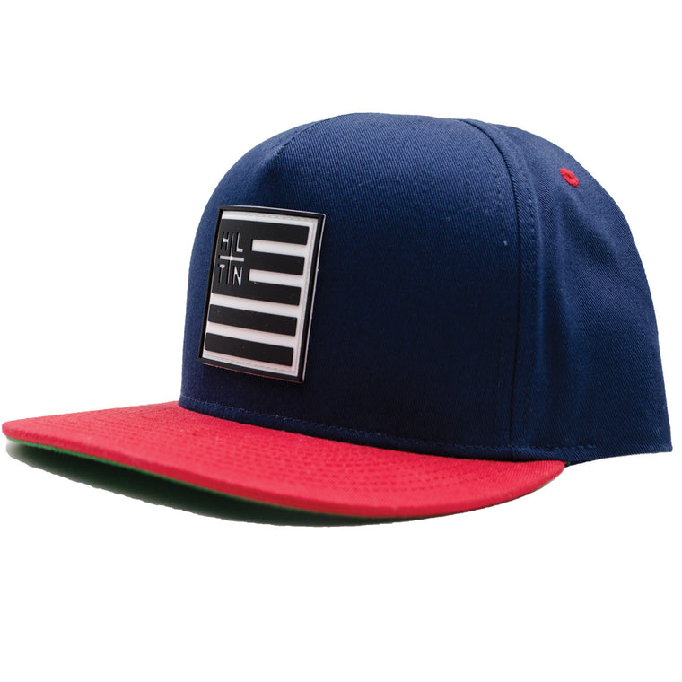 FLAG HAT -RED & NAVY