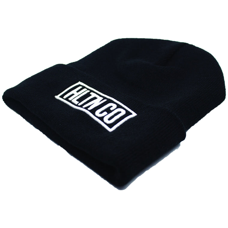 STAMPED BEANIE—SMOOTH BLACK