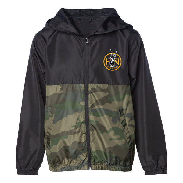 TRACKSIDE YOUTH WINDBREAKER -CAMO