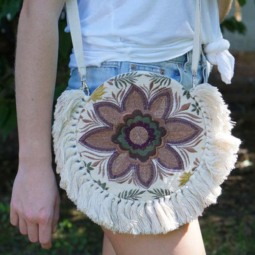 Mex Flower Crossbody Bag