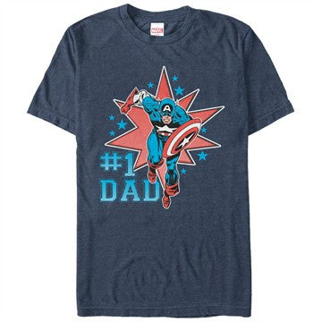 Captain America Number 1 Dad T-Shirt