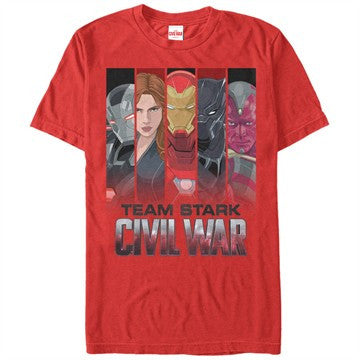 Captain America Civil War Stark Banners T-Shirt