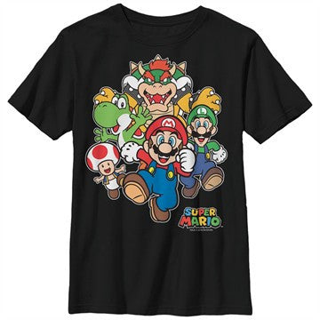 Mario Super Group Rush Youth T-Shirt