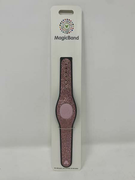 Disney Parks Pink Glitter Rose Gold Magic Band 2 MagicBand Solid Glitter WDW New