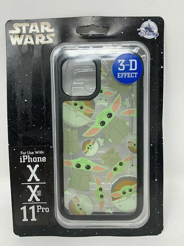 Disney Parks The Child 3-D iPhone X Xs 11 Pro Case Star Wars Baby Yoda Dtech NIP