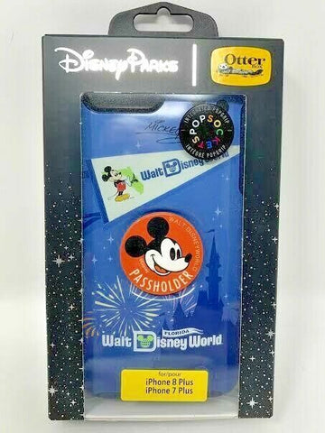 Disney Otterbox Mickey Mouse Annual Passholder AP Apple iPhone 7 8 Plus Case WDW