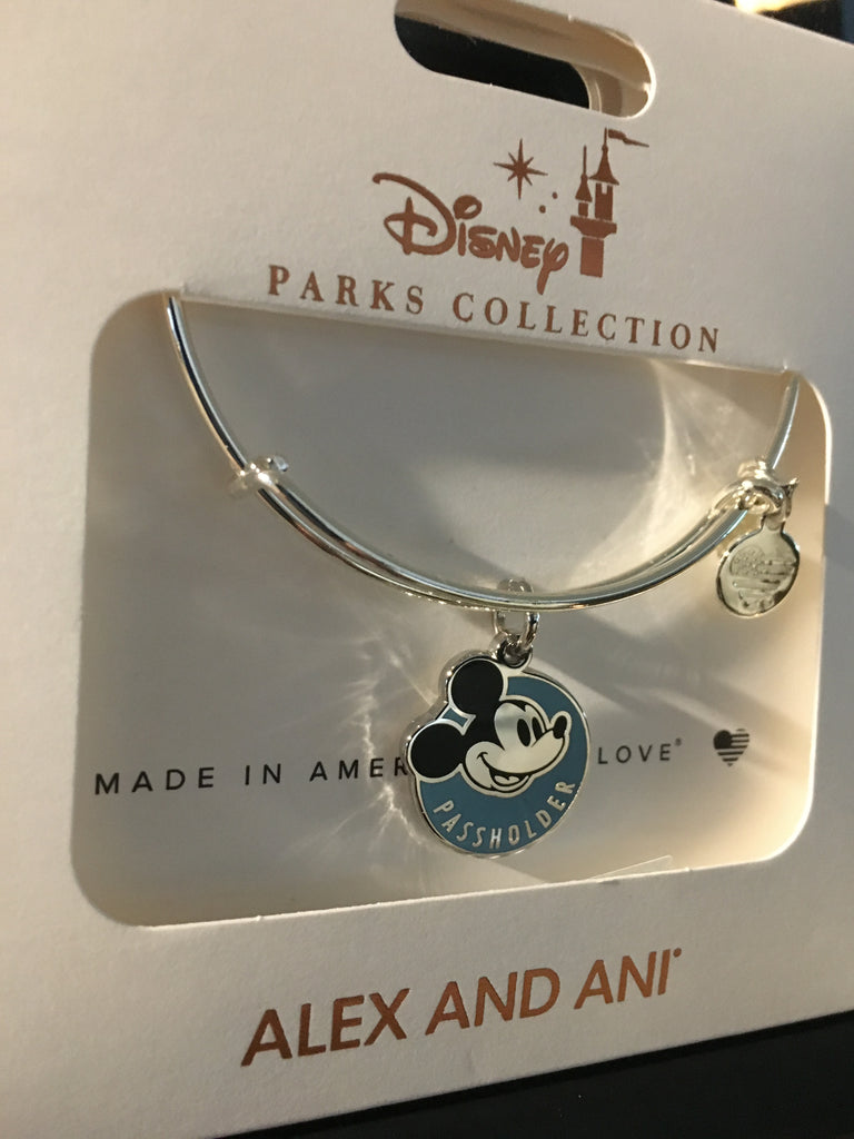 Alex and Ani Annual Passholder Silver Mickey Mouse Disney Parks Bracelet AP