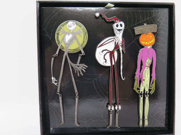Nightmare Before Christmas 25th Anniversary Jack Skellington Jumbo Pin set LE 1500