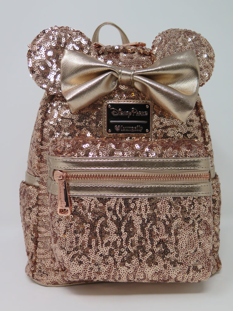 Disney Parks Loungefly Rose Gold Sequin Backpack – Shop Theme Parks f0769dba0c
