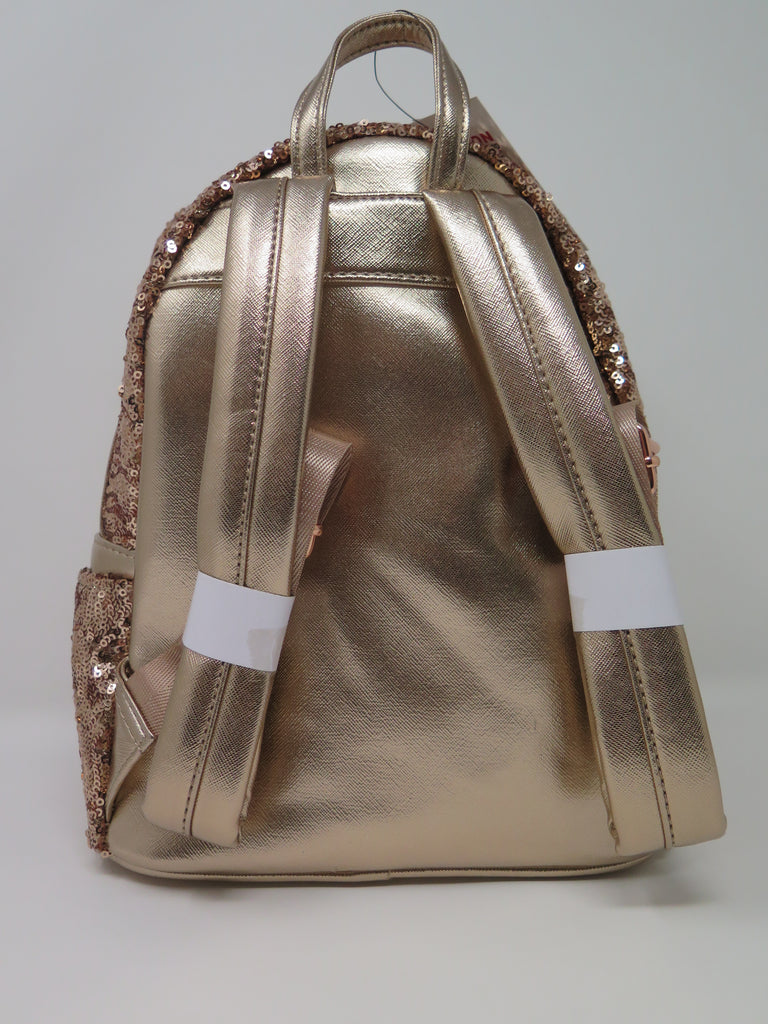 4a93c2db5d9 Disney Parks Loungefly Rose Gold Sequin Backpack – Shop Theme Parks