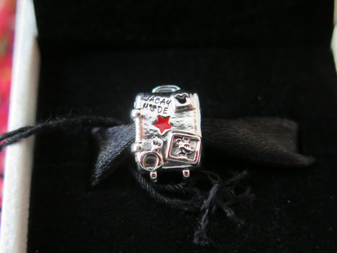 Disney Parks Pandora Vacation Mode Suitcase Exclusive Charm