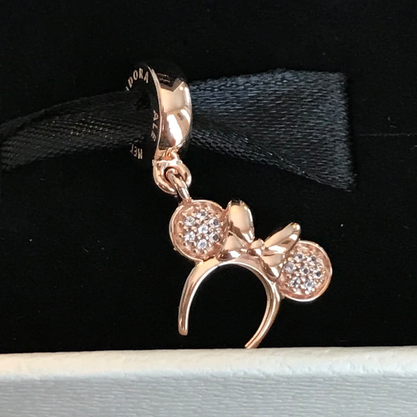 Pandora Rose Minnie Ear Headband Disney Parks Exclusive Dangle Charm