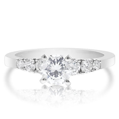 Graduated 7 Stone Engagement Ring