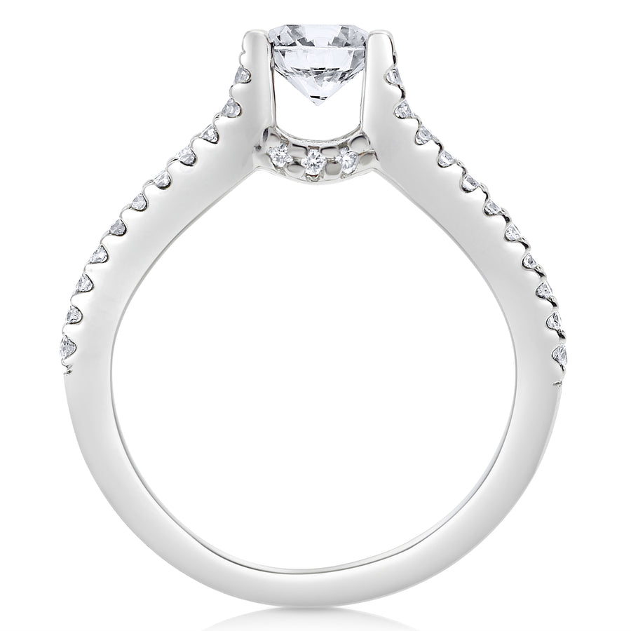 Split Shank Floating Diamond Engagement Ring