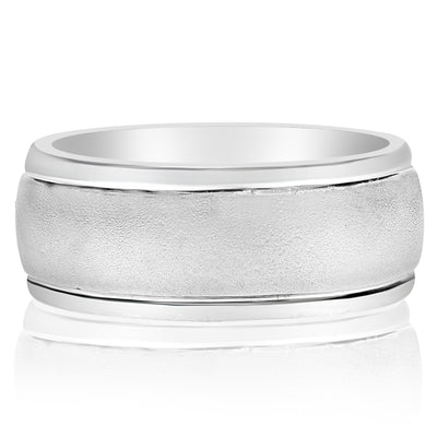 Five Stone Inset Gents Ring