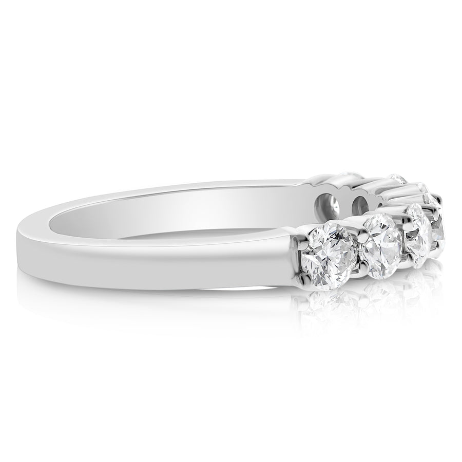7 Stone Shared Prong Band - 0.15 Carat Diamonds