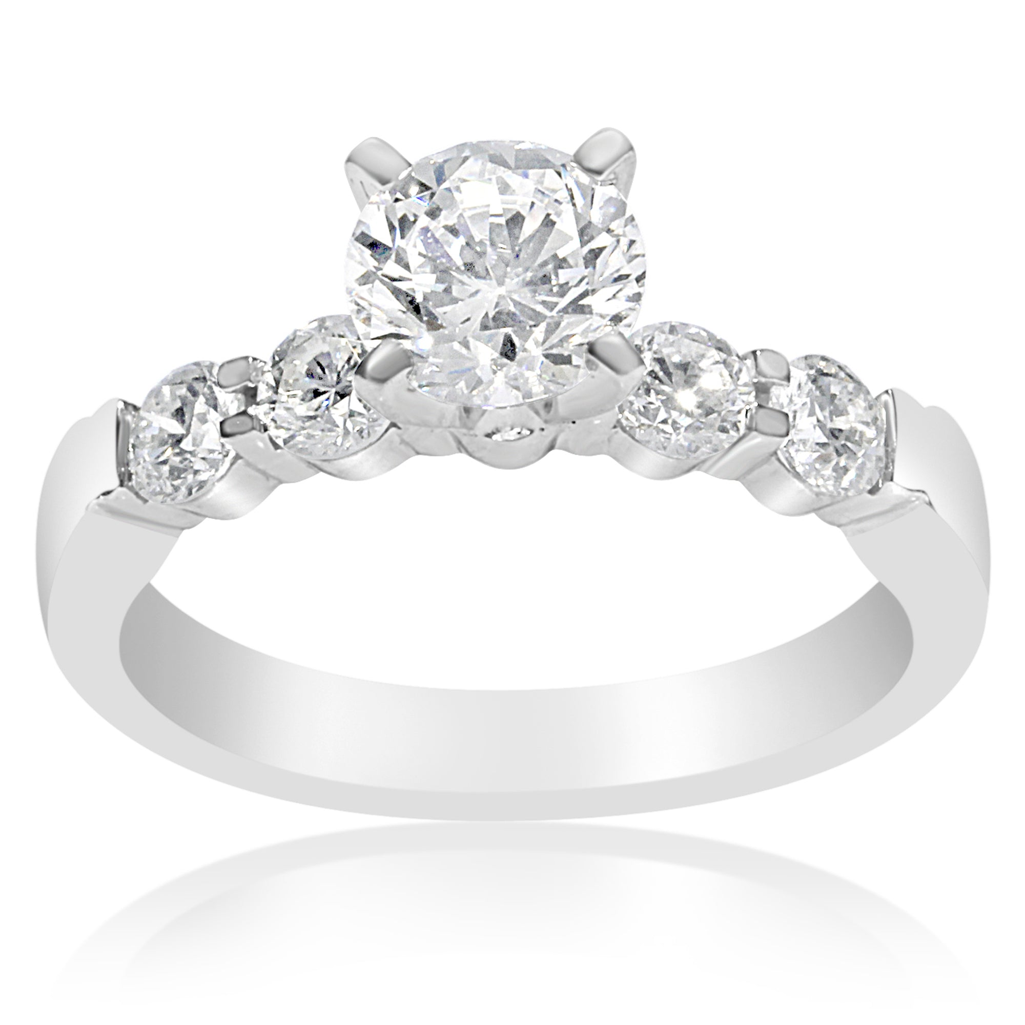 shared diamond with engagement gold ring ct white rings in round rockher prong shank tw
