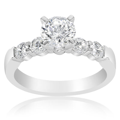 5 Stone Shared Prong Engagement Ring - 0.15 Carat Diamonds