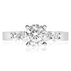 5 Stone Shared Prong Engagement Ring - 0.10 Carat Diamonds