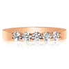 5 Stone Shared Prong Band - 0.10 Carat Diamonds