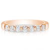 7 Stone Bar Set Bridal Set - 0.07 Carat Diamonds