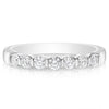 7 Stone Bar Set Band - 0.07 Carat Diamonds