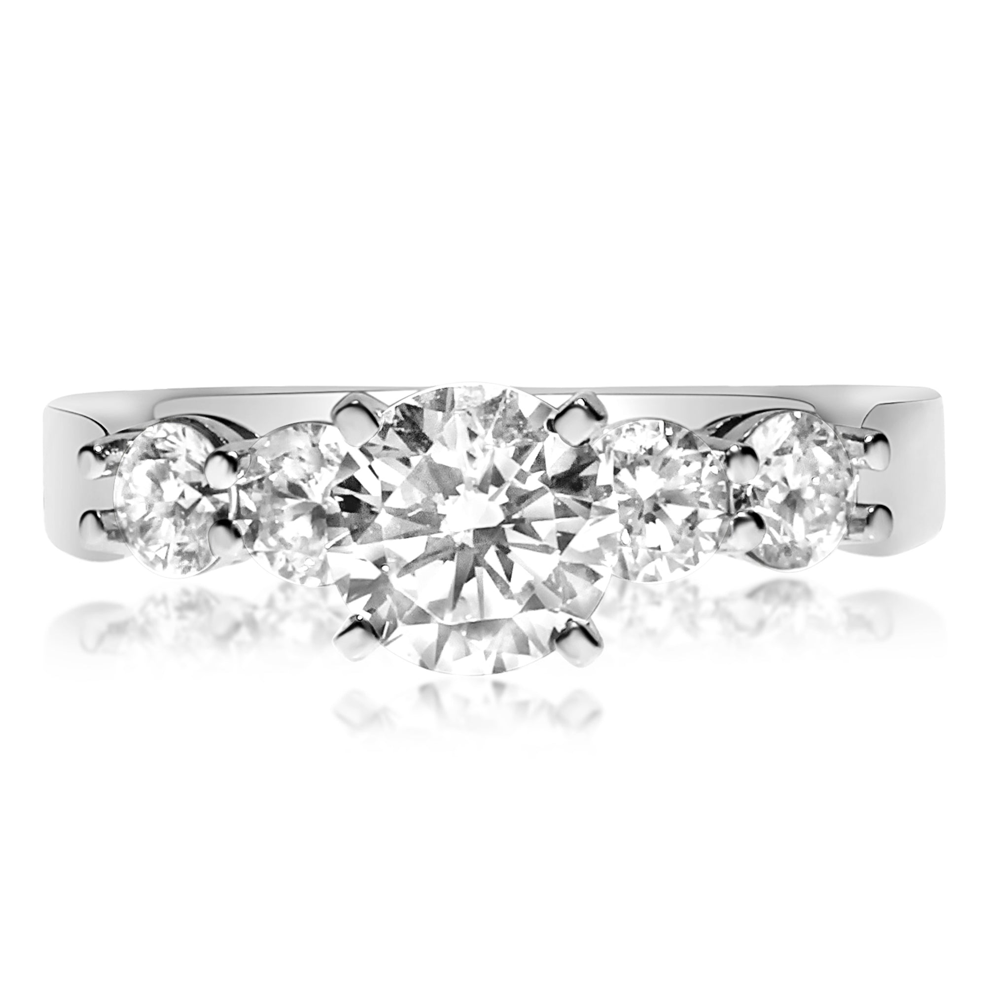 platinum trellis stone ring ct diamond tw engagement in five posen pin truly zac rings