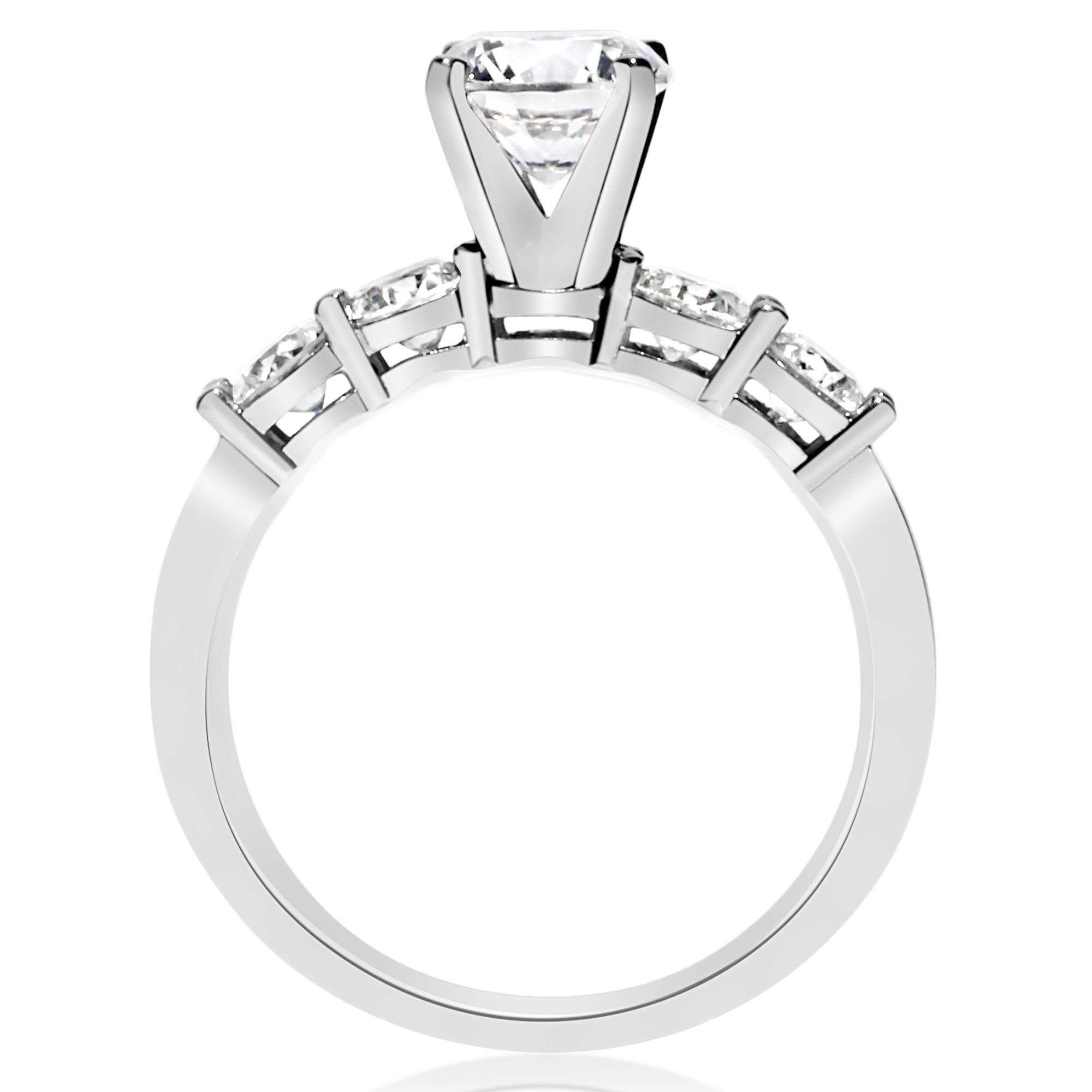 round wedding ct cut prong engagement rings brilliant band product shared diamond