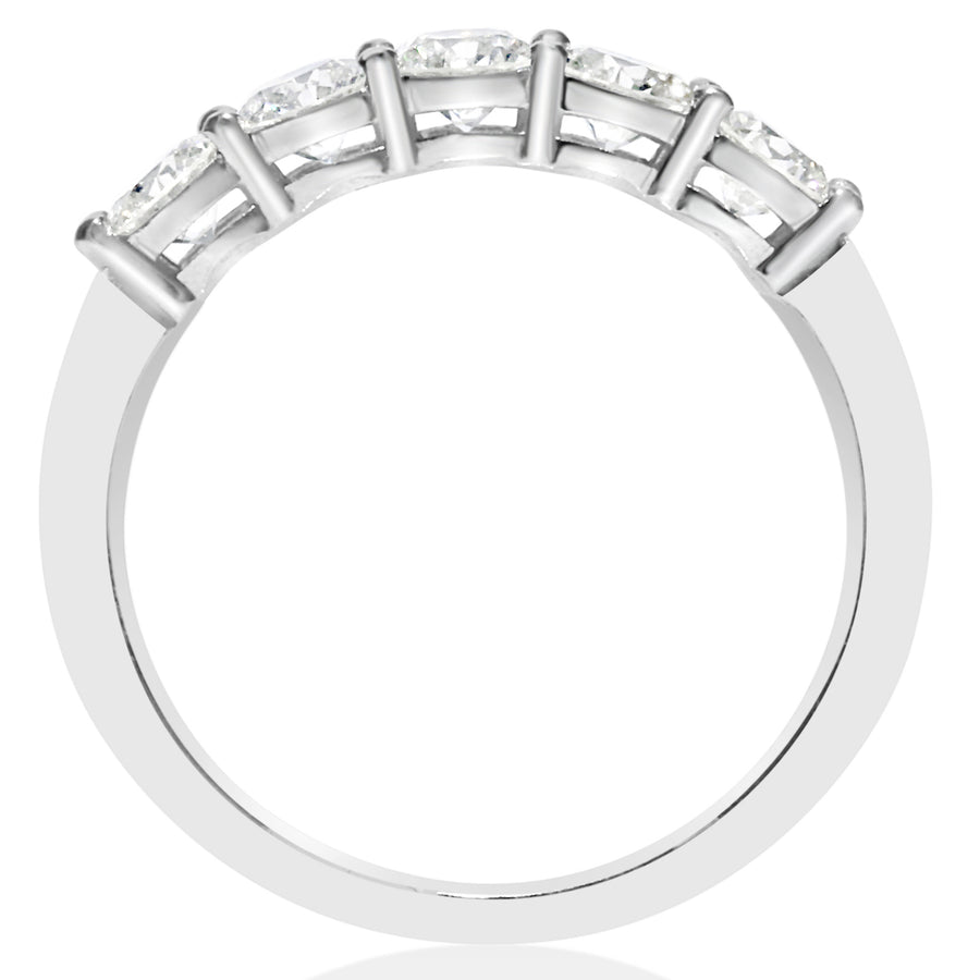 5 Stone Shared Prong Band - 0.20 Carat Diamonds