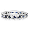 Skinny 4-Prong Band - Sapphires and Diamonds - 2.5mm