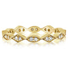 Marquise and Diamond Shaped Milgrain Band