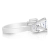 Double Round and Baguette Three Stone Bridal Set