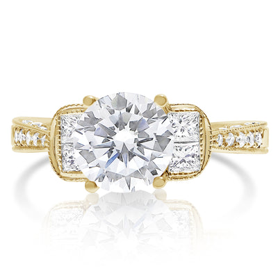 Stacked Princess Five Stone Stone Bridal Set