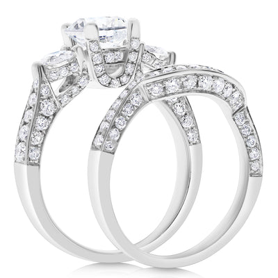 U-Set Three Stone Bridal Set