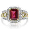 Rubelite Two Tone Ring